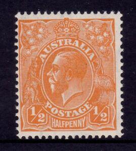 Australia KGV Head CofA Wmk - ½d Orange MUH SG 124