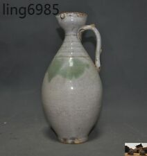 Chinese Antique dynasty ding Kiln old porcelain carving Wine Tea Pot Flagon jug