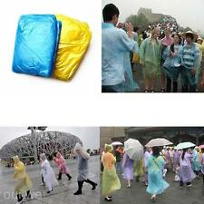 Disposable PE Plastic Raincoat for Outdoor Travel Camping Hiking Anti Rain Day