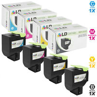 LD Remanufactured Lexmark 801S 4PK: 1 801SK Blk/1 801SC C/1 801SM M/1 801SY Y