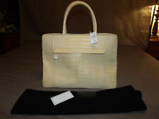$3950 NEW Nancy Gonzalez Butter Yellow CROCODILE Leather Large Tote Bag