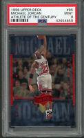 Michael Jordan 1999 Upper Deck Athlete of the Century Basketball Card #85 PSA 9
