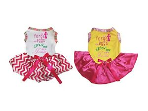 Easter Forget Eggs Give Me Jesus Top Chevron Tutu Pet Dog Dress Puppy Clothes