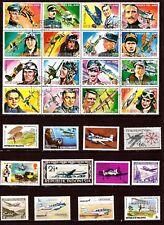 TOUS PAYS , blocs et timbres :Avions et héros de l'air C255