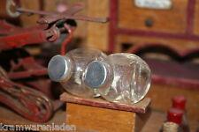 2 uralte Bonbongläser Kaufladenglas, original, sehr selten