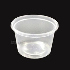 100 x Medium Freezer / Dishwasher / Microwave Food Containers & Lids 8oz Round