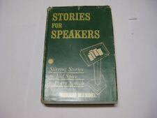 Stories for Public Speakers by Morris Mandel Judaica