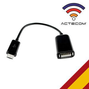 ACTECOM® Adaptador Micro USB Macho OTG A USB Hembra Universal Smartphone Tablet