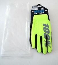 100%  Brisker Cold Weather Motocross Outdoor Bike Winter Gloves Yellow XXL