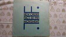 "NEW ORDER       ""MOVEMENT""        VINYL LP RECORDS"