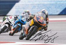 Jack Miller mano firmado Red Bull KTM Ajo 12x8 Foto 2014 Moto3 6.