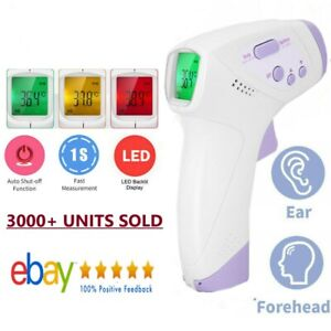 Non Contact Infrared Digital Forehead Fever Thermometer Baby Adult Body Surface
