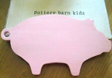 Pottery Barn Kids Pig Wood Wall Art 15x9 Nursery Child room Kitchen Gift Crafter