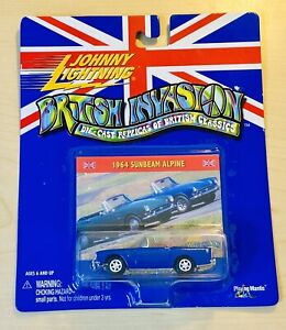 2000 Old Johnny Lightning 1964 SUNBEAM ALPINE - BRITISH INVASION - Blue