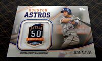 2020 Topps Series 2 #JSES-JA Jose Altuve Jersey Sleeve Jumbo Patch 50 Years