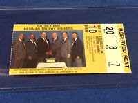 Colorado vs Notre Dame Football Ticket Stub - September 22, 1984 Heisman Winners