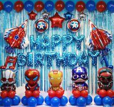 48 Pcs Avengers Birthday Party Supplies Decorations Superhero Balloons Set  U.S