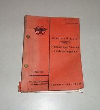 Teilekatalog / Ersatzteilliste Hanomag Radschlepper R12 Stand 06/1954