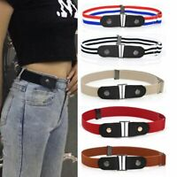 Women/Men Buckle-free Stretchy Elastic Invisible Waist Belt Waistband 10 colors