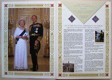 Insel Man / Isle of Man Gedenkalbum Lifetime of Service Queen & Philip