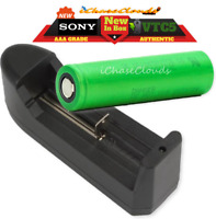 Sony 18650 Battery and Single Slot Charger 30A Vtc5 High-Drain Flat-Top Original