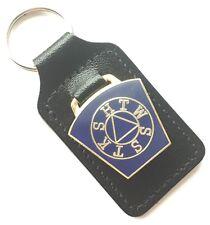Mark Master Key Stone Masonic Order Enamel Crested Key Ring