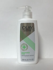 Olay Sensitive Fragrance Free Calming Liquid Cleanser-6.7oz.-For Stressed Skin
