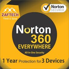 Antivirus, Norton 360 premier edition Latest 2016 2017 - 3 Device-1 year License