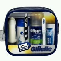 Gillette Mach3 Travel Men Gift Set Razor,Shave Gel,Aftershave,Toothbrush,Shamp