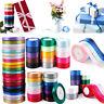 22M Quality Reels of Satin Ribbon Roll Long Lengths & Width 6,10,15, 25 & 38mm