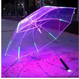 LED Colour Umbrella Movie Cosplay Parasol Flashlight Rain Cover Futuristic