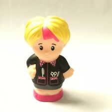 2014 Fisher-Price Little People Hair Stylist Barber Dresser Salon clipper scisso