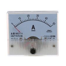 85C1 DC 0-50A Pannello rettangolo analogico amperometro Misuratore V5Y2 N4G1