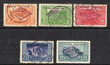 Albania: 1924 National Assembly ovpt. set (5) SG 151-5 used/mint