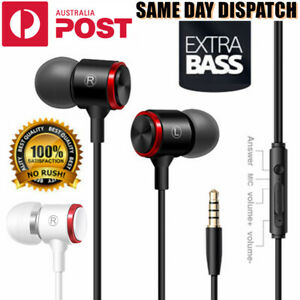 EXTRA BASS Earphones Earbuds Headset Headphones Mic for PC Samsung iPhone iPad