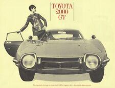 TOYOTA 2000 GT Sportscar James Bond Dr. No 007 Prospekt Brochure Sheet 7