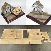 1:35 Europäisches Holzhaus No.2 Battlefield Military 3D Scenario DIY Modell Kit