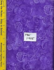 "FBW 1-405, 108"" EXTRA WIDE QUILT BACKING BTY: FAUX BATIK LOOK,  PURPLE"