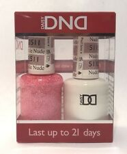 DND Daisy Duo Gel W/ matching nail polish lacquer - NUDE SPARKLE - 511- PINK