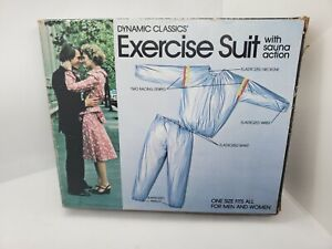 VTG 2 Piece Work Out Exercise Sauna Suit Adult One Size Silver New in open Box