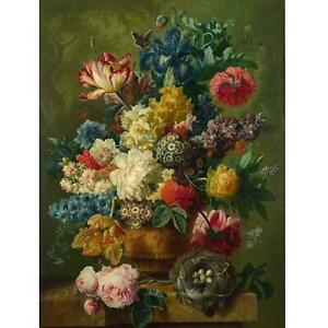 Portfolio, National Gallery Greeting Card Flowers in a Vase (Detail) by Van Brus