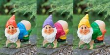 New Solar Mooning Garden Gnome Add a funny decorative lighting to your garden.