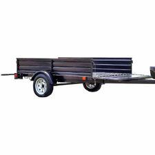 Detail K2 Single Axle Multi Utility Corrugated Solid Steel Floor Trailer Used