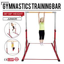 "Gymnastics Bar, Le Brick Red Adjustable 3' to 5', 1.5"" solid wood, Junior Kip"