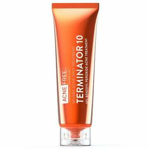 Acne Free Terminator 10 Acne Spot Treatment with Benzoyl Peroxide 10%  30ml