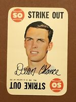 1968 Topps Game Dean Chance Card #16 NM-MINT - Angels