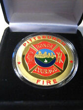 PITTSBURGH BUREAU OF FIRE Challenge Coin with Presentation Box