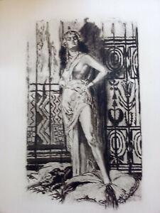 Pierre Benoît / l'Atlantide / 1922 eaux-forte par lobel- riche ex numéroté