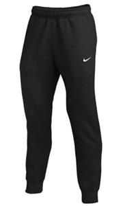 NIKE Men Fleece Jogger Tapered Pants Black White 826431 010 - Med New