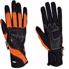 Motorrad Leder handschuhe.Biker Motorrad Leder Handschuhe Orange Gr L